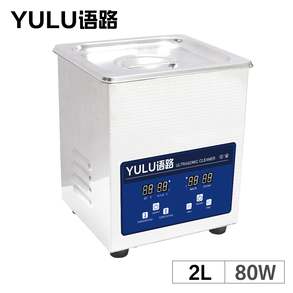 2L 80W Ultrasonic Cleaner Bath Printhead Circuit Board Ultrason Heated Timer Lab Ultrasound Auto Car Parts Oil Degreasing Tools 220v 2l mechanical ultrasonic cleaner bath heated