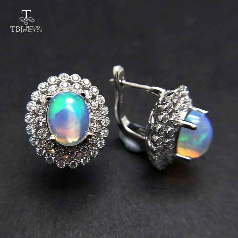 earrings with ethiopian opals