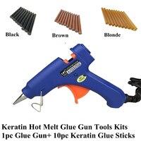 Keratin Glue Sticks Kits 10pc Hot Melt Glue Sticks 120mm*11mm Professional Hair Tools Kits For Fusion Keratin Hair Extensions