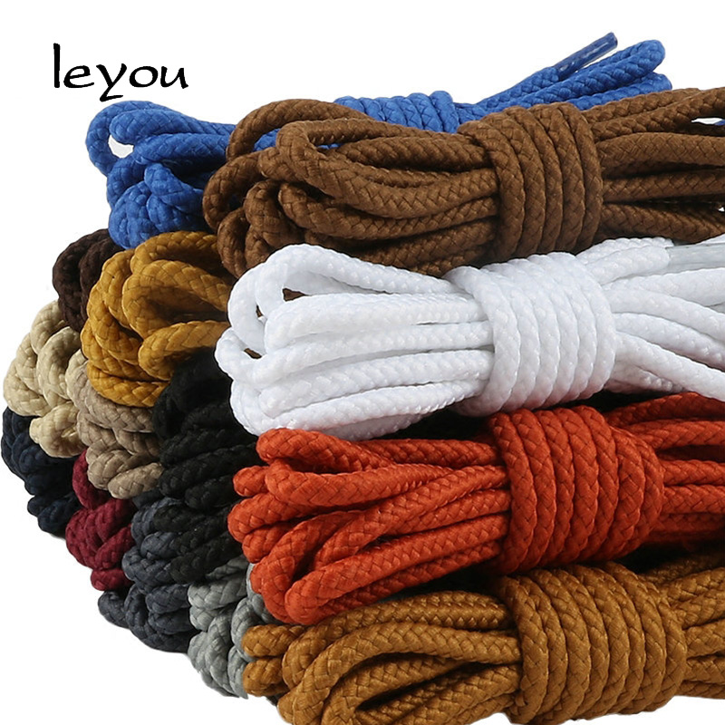 80cm-160cm Shoelaces Round for Leather Tooling Shoe Lace Boots laces Athletic String Nylon Shoe Lace for Casual Leather Shoes