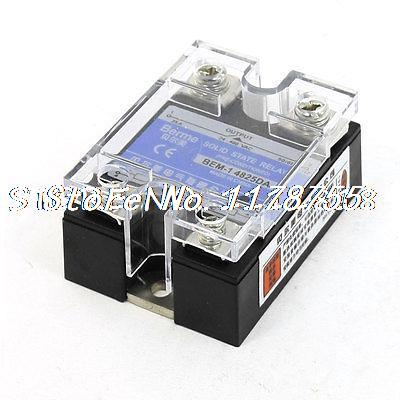 80-250V AC to 3-32VDC Output Rectangle Single Phase SSR Solid State Relay 25 Amp high quality ac ac 80 250v 24 380v 60a 4 screw terminal 1 phase solid state relay w heatsink