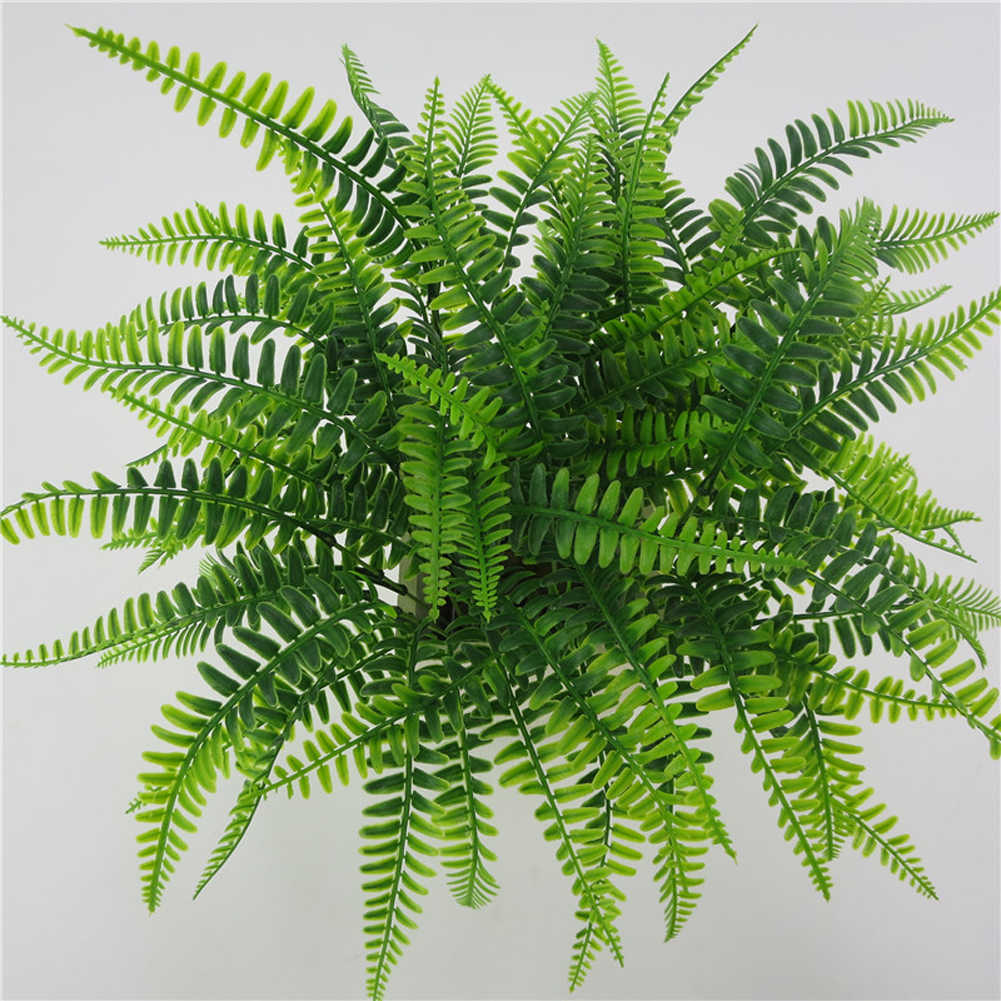 42 cm 7 Garfos Persa Grama Artificial Falsos Plantas Verdes Decoração Cenário de Casamento Casa Jardim Varanda Flor