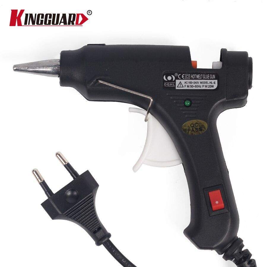 Kingguard 20 Вт ЕС вилку термоклей Пистолеты для склеивания с 10 шт. 7 мм Клей-карандаш промышленных мини Пистолеты термо-электрический тепла температура инструмент