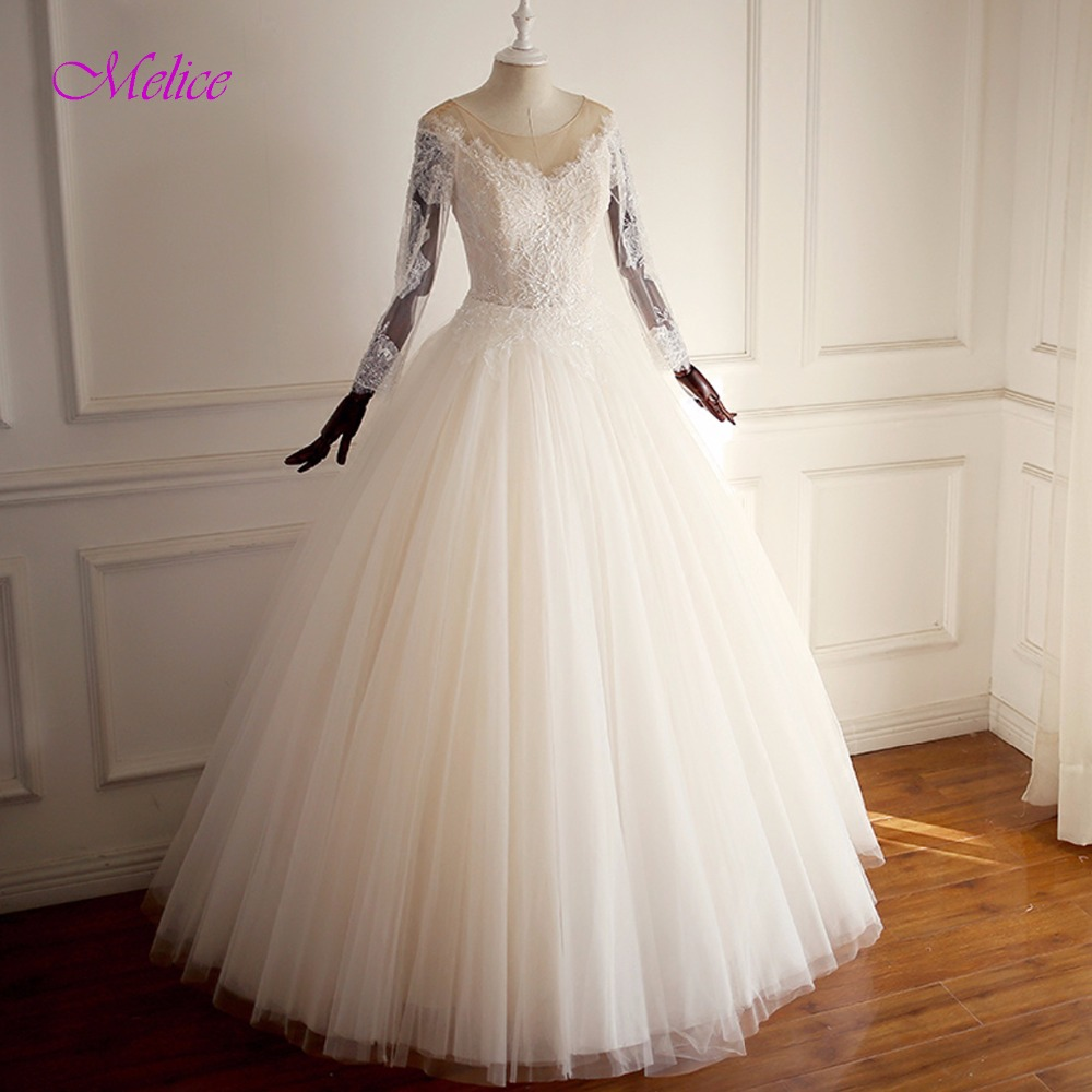 Vintage Wedding Dresses 2019: Fmogl Graceful Appliques Long Sleeve A Line Vintage