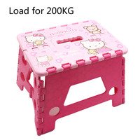 15%,Camping & Fishing Garden Stool HelloKitty Cartoon Folding Stool Outdoor Home Children Portable Stool Chair Loading 200KG