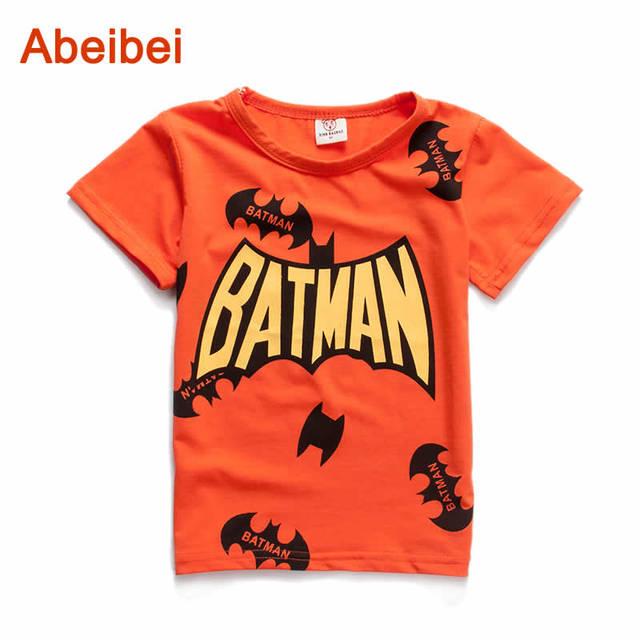 3-6Year 2016 verão novo Batman infantis camisetas meninos crianças t-shirt Designs roupas para meninos roupas de bebê meninas t-shirt da