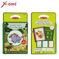 XC1393 Mágico Livro De Desenho de Água com 1 Magic Pen/Intimate Pintura Água Dinossauro-Temático Placa Brinquedo Educativo para Crianças miúdo