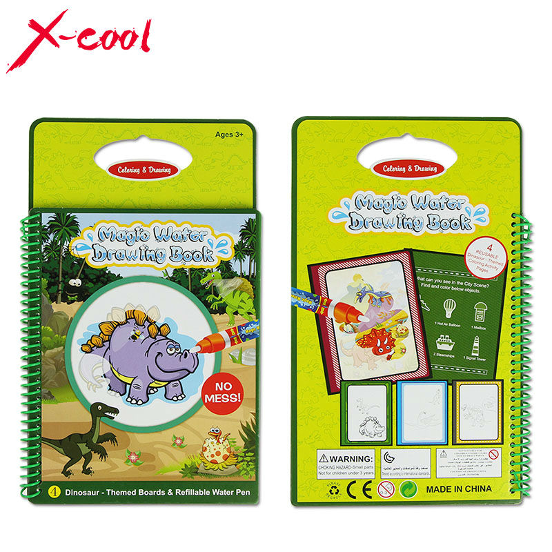 xc1393 magic water drawing book with 1 magic penintimate water painting dinosaur themed board educational toy for kid children