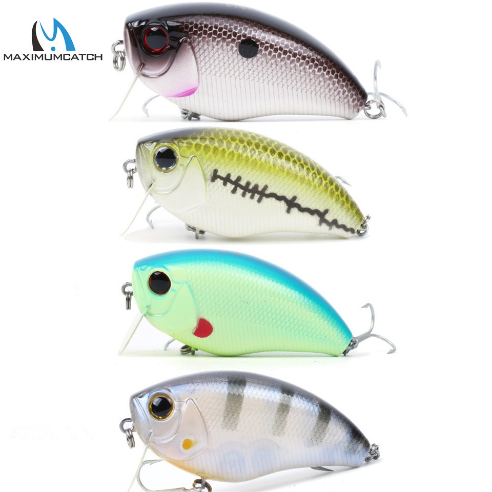 Maximumcatch Hard Baits Crank Pike/Bass Fishing 6.3cm Floating Hard Fishing Lure with #6 premium treble VMC Hook