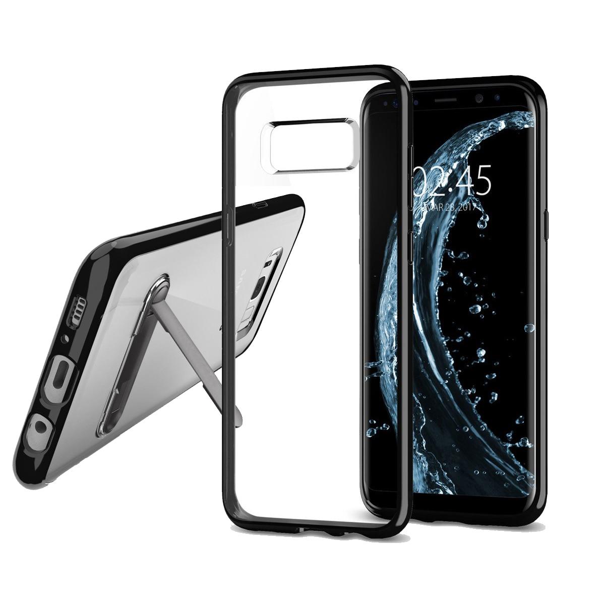 Цена за Original Spigen Ultra Hybrid Galaxy S8 / Galaxy S8 Plus Case - ТПУ Край + прочный ПК Ясно Назад Mil Класса Гибридные Чехлы для Samsung Galaxy S8 / S8 Plus