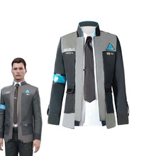 BOOCRE Game Detroit: Become Human Connor Cosplay Costume Uniform Men Jacket White
