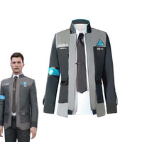 Game Detroit: Become Human Connor Cosplay Costume Uniform Men Jacket White Shirt Tie RK800 Coat Costume Full Set