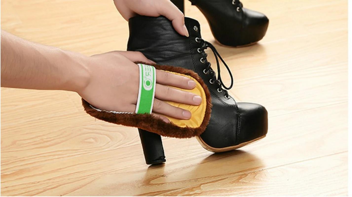 1 PCS Mode Lembut Penggunaan Home Shoes Membersihkan Gloves Kain Poles  Sepatu Brush Imitasi Wol 5ZCF184 shoes free shipping returns brush  classicshoes women high heels - AliExpress