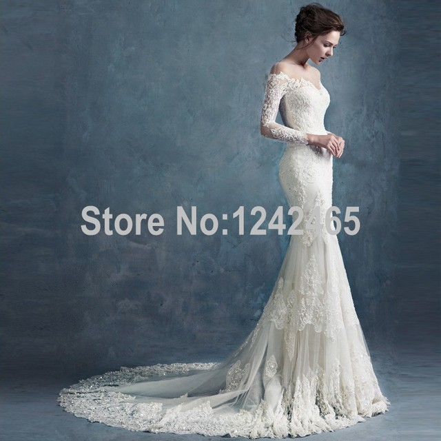 2016 mermaid long sleeves modest wedding dress lace sleeves top 2016 mermaid long sleeves modest wedding dress lace sleeves top quality fairy wedding gown uk with junglespirit Image collections