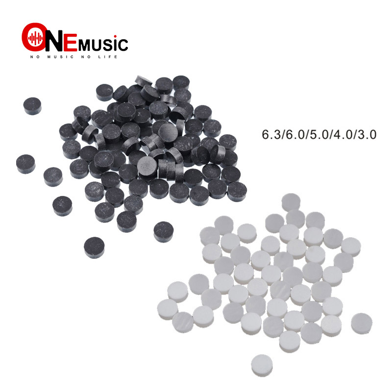 100pcs Plastic Guitar Bass Ukulele Neck Markers Dot 6.3 6.0 5.0 4.0 3.0 Fingerboard Remark Dot Clear-Cut Texture Musical Instruments Guitar Parts & Accessories