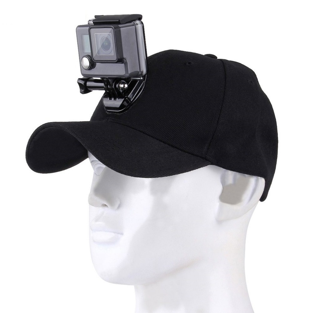 Sports Camera Hat Adjustable Cap With Screws And J Stent Base For GoPro Hero 6/5