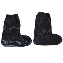 reusable Waterproof Shoe Covers for Motorcycle Cycling Black---UK 9-10.5