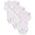 3 unids/lote baby girl boy brand clothing set 100% algodón Llanura blanca Ropa Interior de Manga Larga Recién Nacido Siguiente Buzos y Rompers 0-12 M