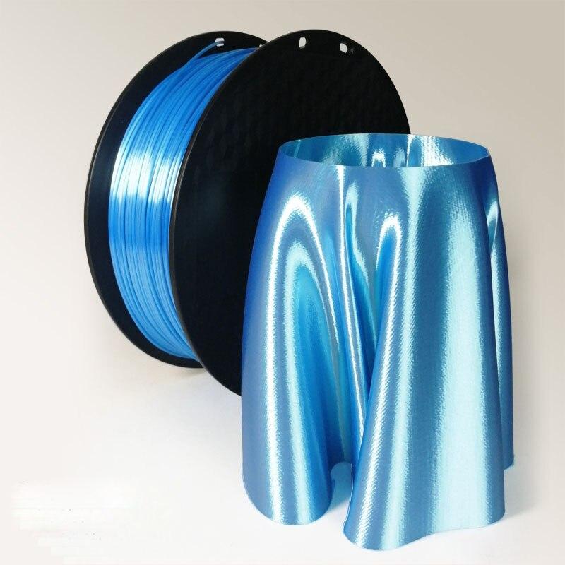 Top Qualité 3d imprimante filament pla 1.75mm 1 kg Soie Texture Sentiment Or Soyeux Soie Comme 3d Matériel D'impression