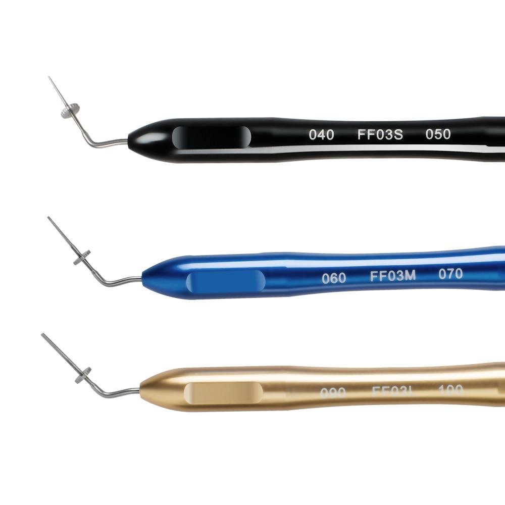 3PCS Dental Endo Hand Pluggers Tip Endodontic Instrument 040 FF03S 050, 060 FF03M 070, 090 FF03L 100 цена