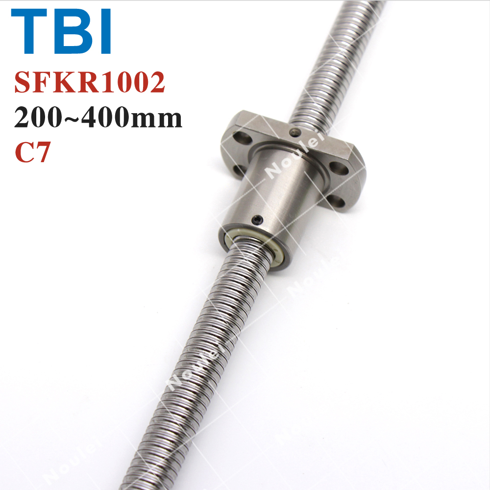 TBI 1002 Miniature Ball Screw,  2 mm lead 10mm Diameter Ballscrew with SFK1002 ballnut C7 precision tbi ball screw 2005 c7 1000mm with 5mm lead without flange ballnut bsh2005 for cnc kit backlash
