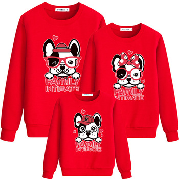 New Family Matching Clothes Christmas Pajamas Family Look Sweaters Mother Father Kids T Shirt for Mom Dad Son Girls Hoodie CA251 Family Matching Outfits