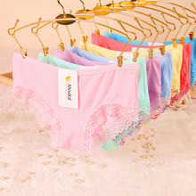 2015 explosion models Girl Series Solid XL cute cotton underwear women sexy lace panties Women's Panties