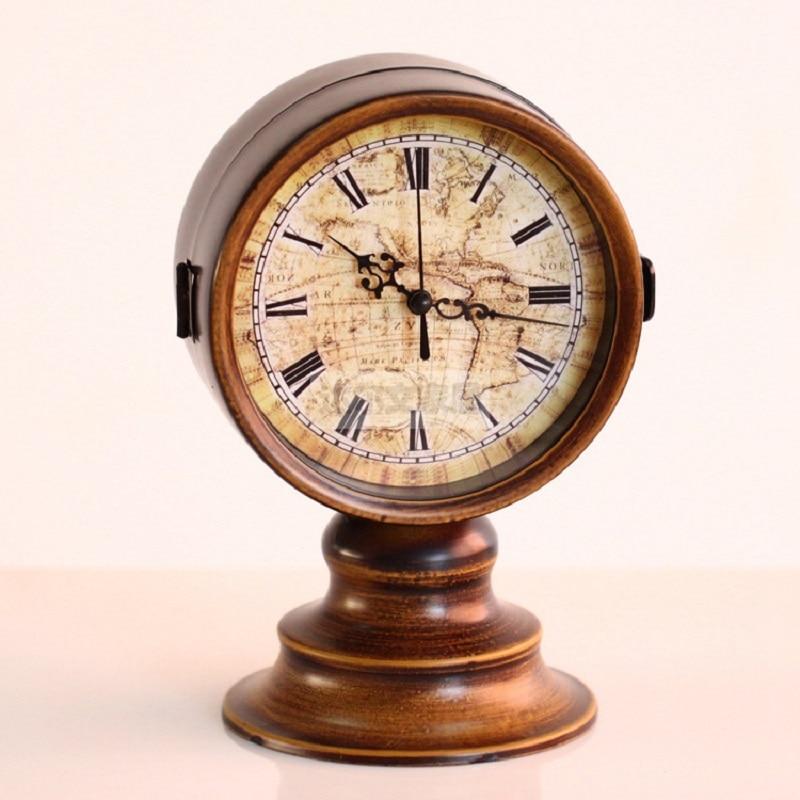Horloge de table numérique réveil montres vintage reloj klok décor à la maison horloge de bureau électronique horloges automobiles 6 pouces en métal
