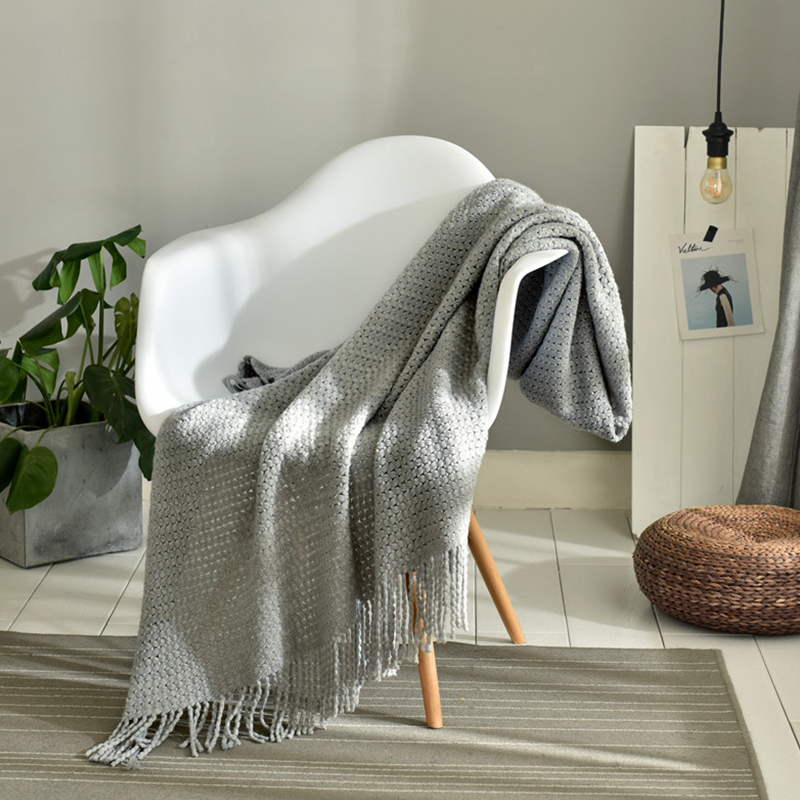 3 colors chunky knit weighted throw blanket for bed sofa aircondition blankets adult solid Bedspread all season