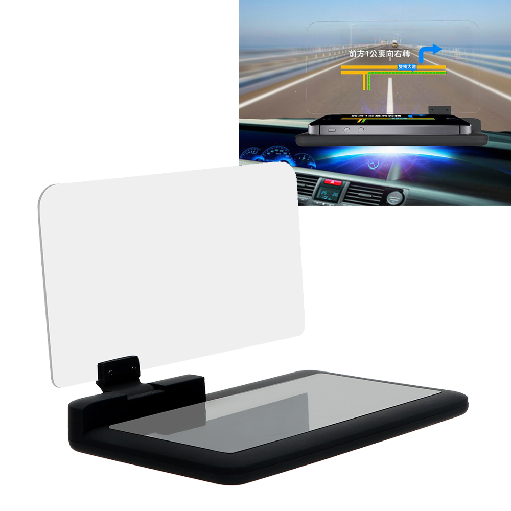 HUD Head Up Display for iPhone Samsung GPS Car-styling Car Windscreen Projector 6 Inch Driving Safety Mobile Phone Holder