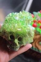 616grams Of Natural Quartz Crystal Skull Yellow Angel Aura