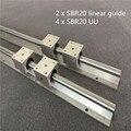 2 комплекта SBR20 300 400 500 600 800 1000 1200 1300 1500 мм полностью поддерживаемый линейный направляющий вал с 4 шт. SBR12UU подшипниковый блок