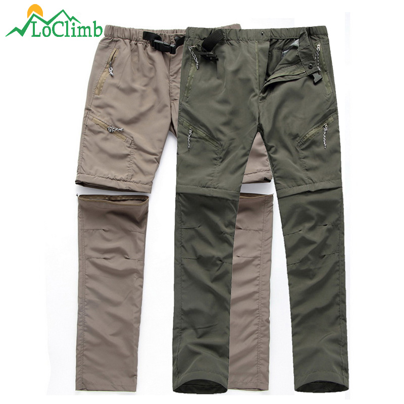 LoClimb Men's Waterproof Hiking Pants Men Summer Camping/Trekking Trousers Mountain Climbing/Outdoor Sprots Pants Shorts AM001