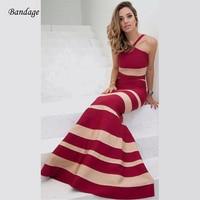 2018 Arrivals Fashion Striped Sleeveless Dresses Bodycon Women Evening Gown Spaghetti Strap Sexy Celebrity Maxi Summer Dress HL