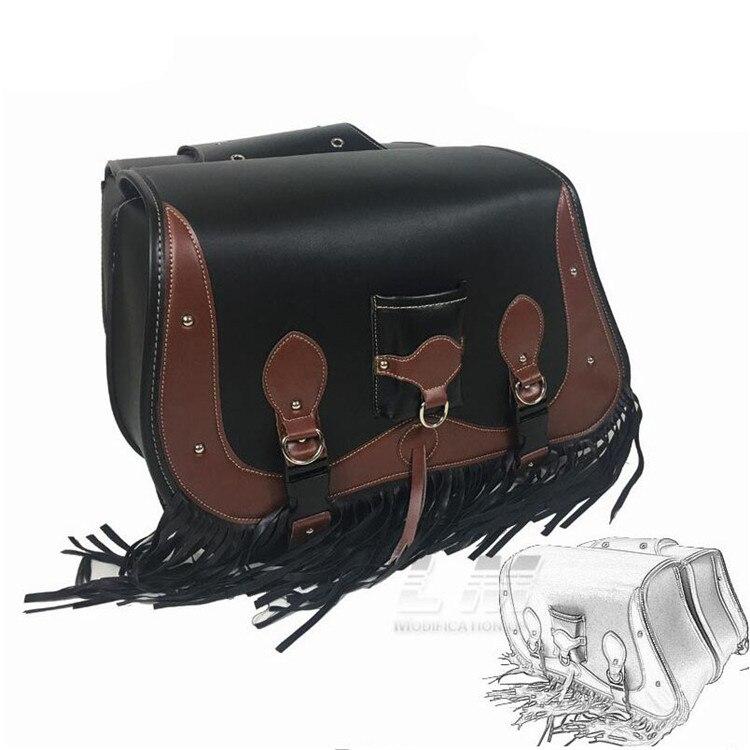 Здесь продается  top quality leather unviersal retro motorbike saddle bag moto tail bags for honda suzuki harley 750 883 motorcycle saddlebag  Автомобили и Мотоциклы