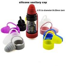 10pcs/lot Silicone Dust Cap for E Cigarette atomizer sanitary cap mouthpiece drip tip cap fit 19-25 mm Vaporizer