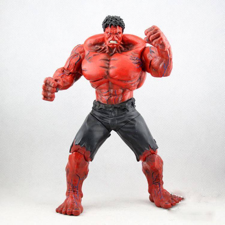 1piece Red Hulk 10 26cm Action Figure The PVC Figure Toy Hands Adjusted Movie Lovers Collection avengers hulk pvc action figure model toy anime hot movie hulk activity collection display juguetes creative birthday gift