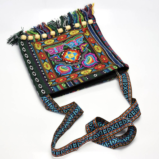 Women's Tibetan Style Embroidered Messenger Bag 4