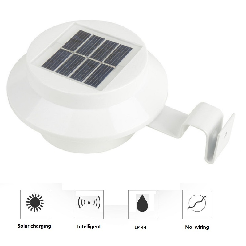 Strong LED Solar Lamp Outdoor Sensor 3 LEDs Street Light Waterproof Garden Path Wall Lamps Fence Spot Lighting
