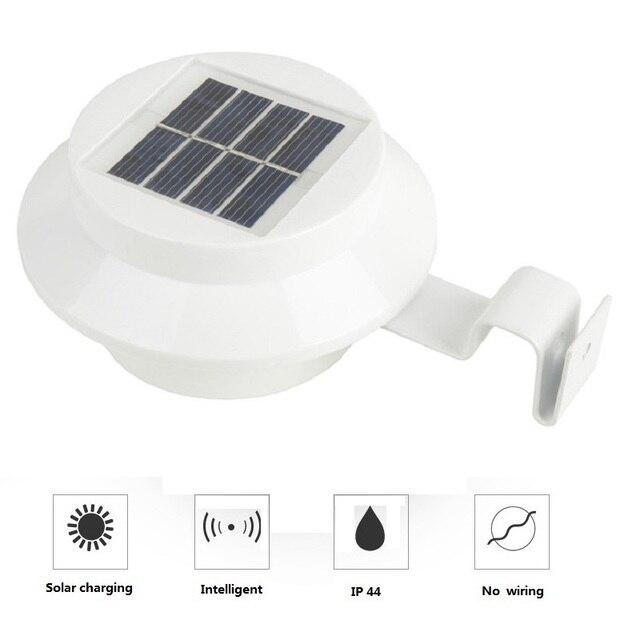 Strong LED Solar Lamp Outdoor Sensor 3 LEDs Street Light Waterproof Garden Path Wall Lamps Fence Spot Lighting