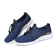 RGKWXYER New Men Casual Shoes Men Outdoor Sneakers Male Mesh Flats Loafers Slip On Big Size Breathable Trendy Running Shoes 2019 недорого