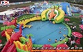 Giant Wholesale Dinosaur Inflatable Amusement Slide Water Park For Aduls And Kids