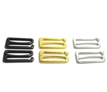 10 pcs / lot 25mm metal silver/gold/gun black big hook bra sewing buckle zinc alloy material accessory