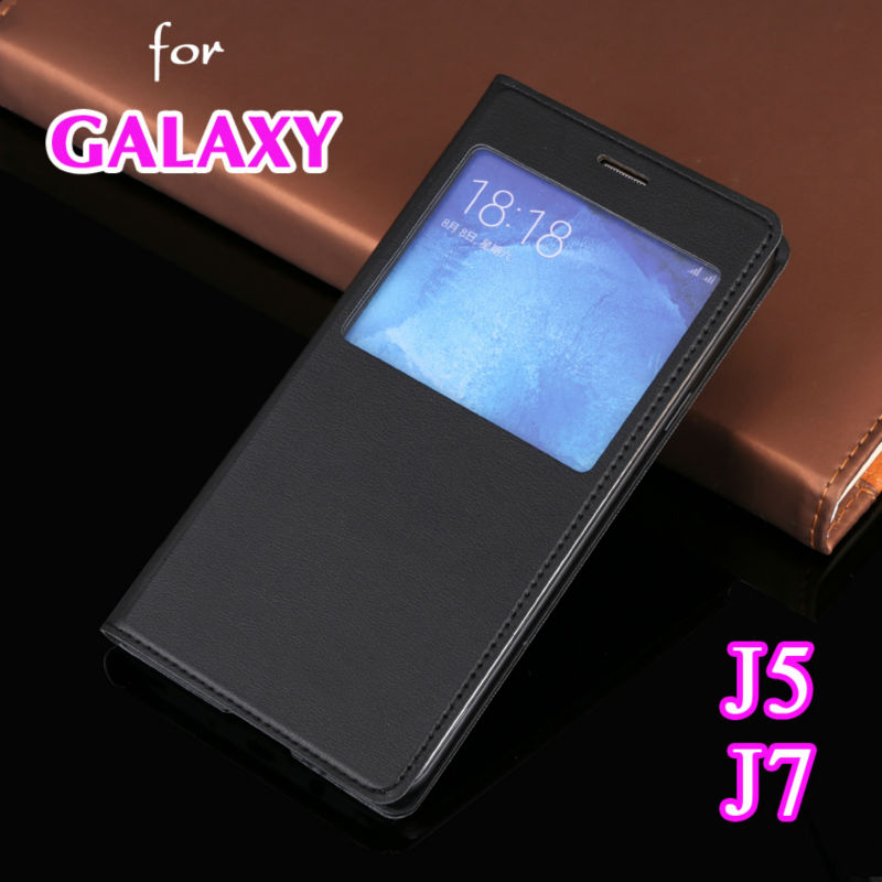 Galleria fotografica Flip Leather 360 Phone Case Cover For Samsung Galaxy J5 J7 2015 SM J500 J500F J500H J700 J700F J700H J700FN SM-J500F SM-J700FN