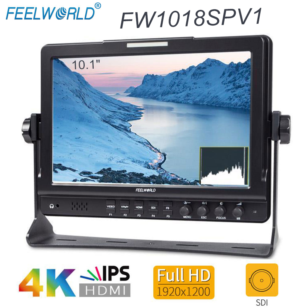 Feelworld FW1018SPV1 10 1 IPS 3G SDI HDMI Camera Field Monitor Full HD 1920x1200 LCD Monitor