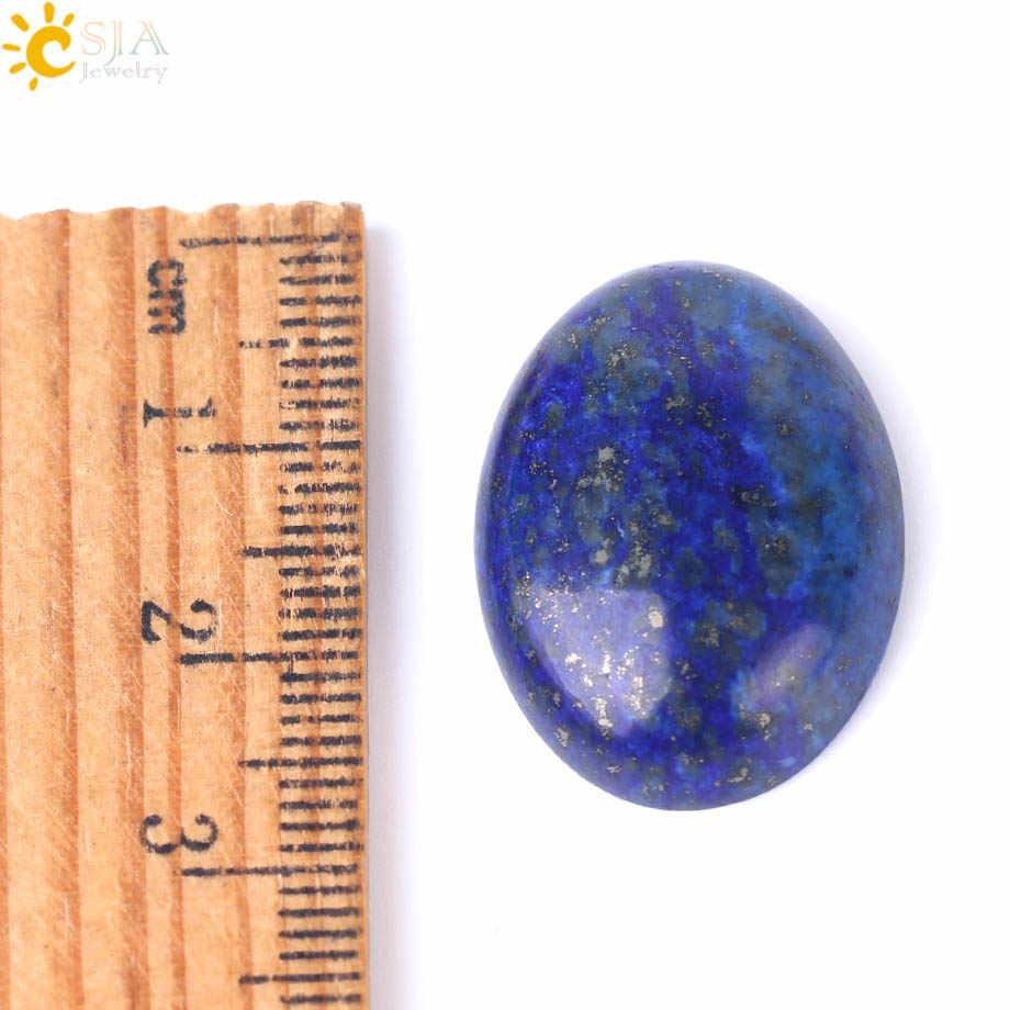 Csja 1 Tự Nhiên Lapis Lazuli Đá Quý Không Khoan Lỗ Bầu Dục Cabochon Cab Đính Hạt Dành Cho Nam Tự Làm Thủ Công Trang Sức làm Vòng F511