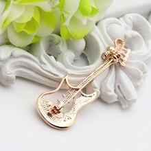 Ella Rhinestones Guitar Brooch (2-color)