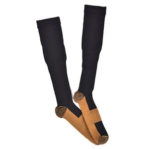 Image 4 - Calcetines graduados de compresión 20 30 mmHg presión firme circulación calidad hasta la rodilla soporte ortopédico medias calcetín de manguera