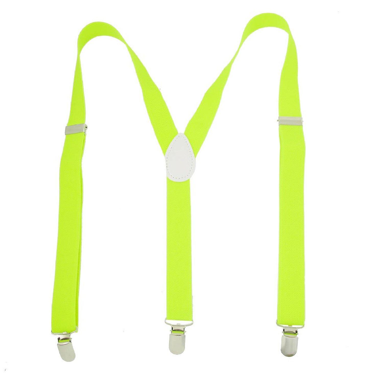 NEW Adjustable Braces Elastic Y Back Suspender Yellow Green for Ladies