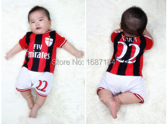 2015 16 Ac Milan Soccer Jerseys Baby Boys Girls Football Shirts Rompers 22 Kaka Infant Toddler Jumpsuits Kids Jersey Clothes Jersey Card Jersey Shirtshirt Producers Aliexpress